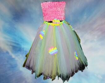 Pastel Flower tutu skirt