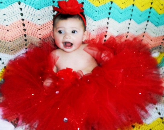 Rockin'  Red Bling Tutu