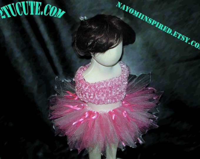 Pink and White Breast Cancer Awareness Tutu