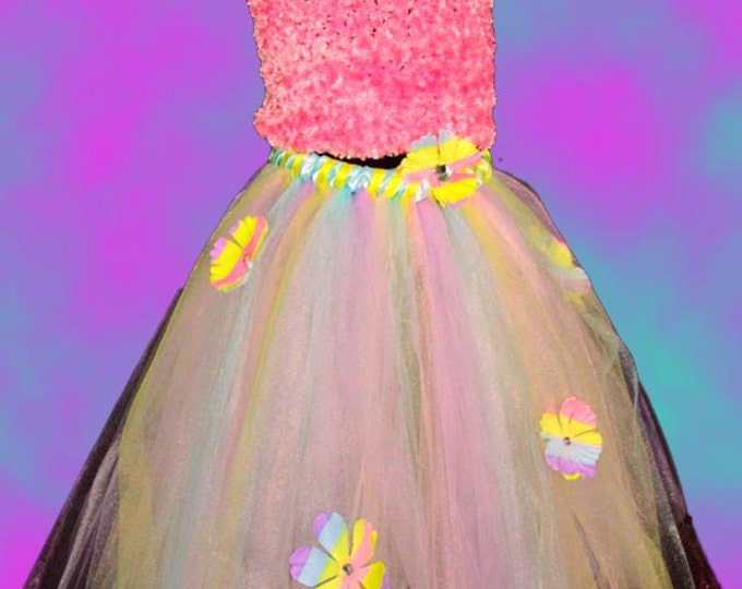 Full Figure Pastel Flower Tutu Skirt