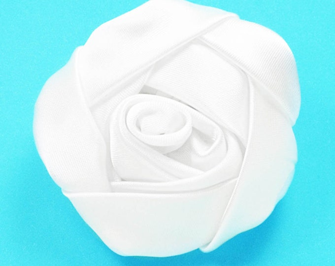 White Satin Rose Embellishment