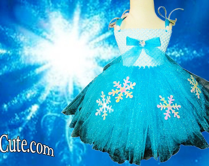 Frozen Movie Inspired Couture Tutu Dress