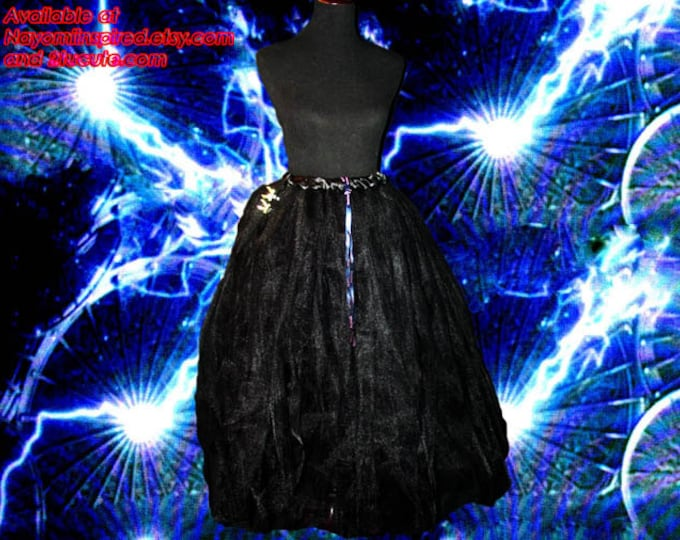 Full Figure Flowing Black Tulle Skirt