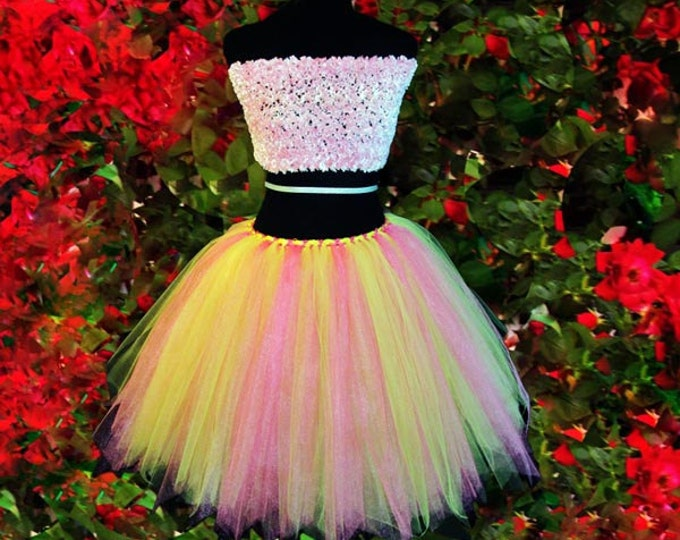 Women's Lemon and Pink Tutu Skirt