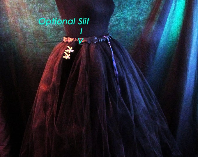 Flowing Black Tulle Skirt