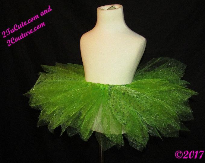 Full Figure Women's Green Sparkle Dot Tulle Skirt Sale