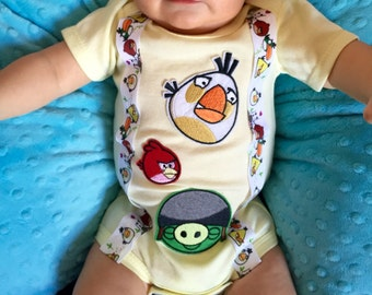 Angry Birds themed Bodysuit or Shirt
