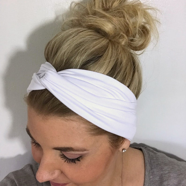 White Turban Headband Women Headbands for Women Boho  8f38261e59c
