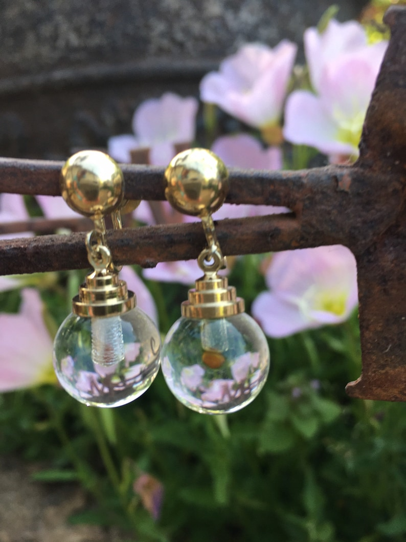 Vintage Coro Clear Ball Clip-on Drop EarringsFree shipping!