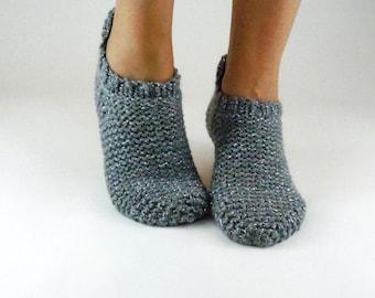 8822893b441c60 Wool slipper socks. Chunky knitted slippers. Indoor shoes. Slipper socks.  House Shoes. Adults slippers. Birthday present. Gift for women