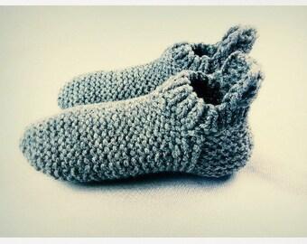 Wool slipper socks. Chunky knitted slippers. Indoor shoes. Slipper socks. House Shoes. Adults slippers. Birthday present. Gift for women