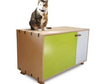 cat litter box enclosure double cat furniture lover litter box enclosure cover cabinet dog proof box furniture etsy