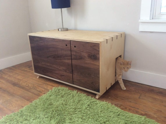 Modern Litter Box Furniture Cat Lover Litter Box Enclosure | Etsy