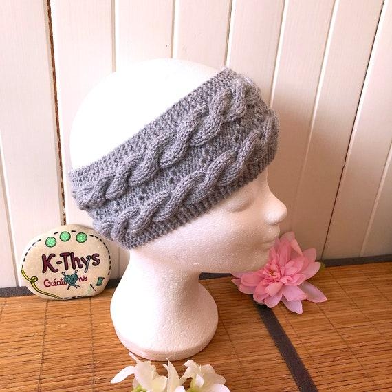 light beige color headband Headband Carleen earmuffs 3 twists 100/% soft acrylic