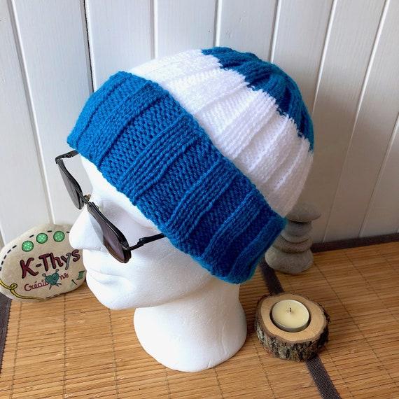 Lumino ski Hat mens Hat neon blue cyan white  4220def16e9