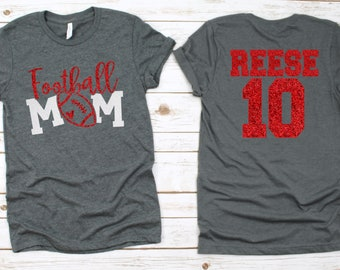 football mom shirt with number