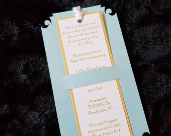 bookmark invitation etsy