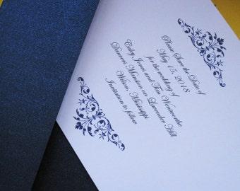 Blue Regality (Beautiful regal navy blue invitation design)