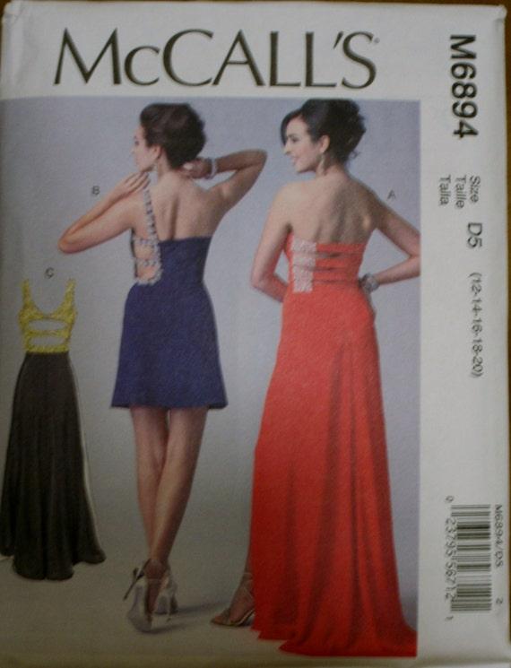 Mccalls 6894 Misses Dress Sewing Pattern Formal Etsy