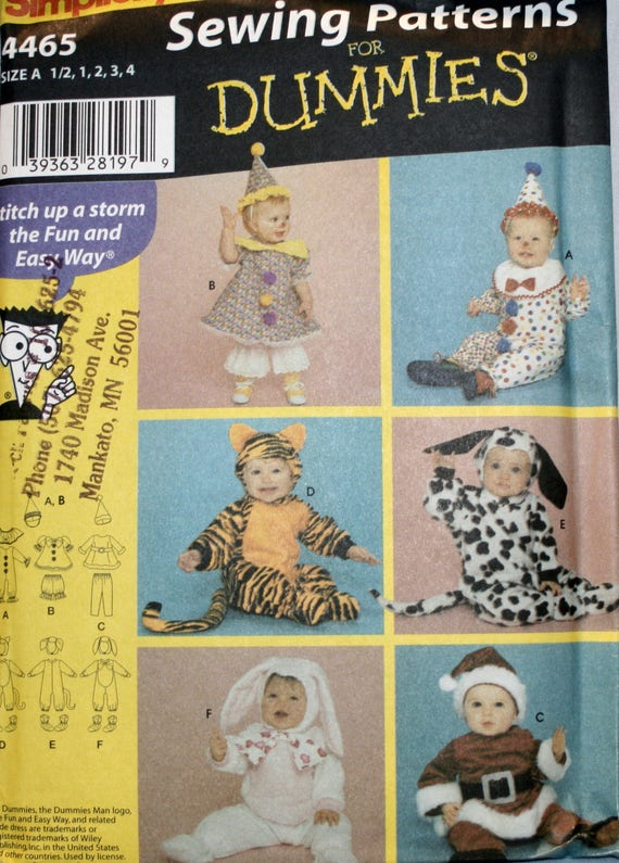 Toddlers Halloween Costume Sewing Pattern Simplicity 60 Etsy Impressive Toddler Halloween Costume Patterns