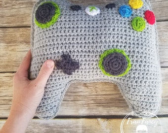 CUSTOM ORDER handmade crochet XBOX gaming controller - decorative pillow