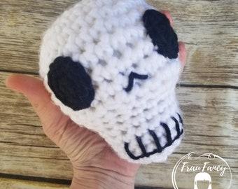 Crochet amigurumi skull - skeleton head stuffy stuffed head - skull buddy