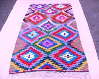 kilim rug free shipping VINTAGE TURKİSH oerlon kilim Anatolian  Rug handwoven rug decorative kilim SİZE -  32 '' X  49 ''( 80 cm X 123 cm)