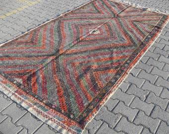 kilim rug free shipping VINTAGE TURKİSH ousak kilim Anatolian handwoven kilim rug decorative kilim - SİZE : 69'' X 122'' ( 173 cm X 305 cm)
