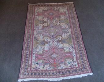 kilim rug carpet VINTAGE TURKİSH kilim Anatolian handwoven kilim rug decorative kilim - SİZE : 48'' X 83'' (120 cm X 208 cm)