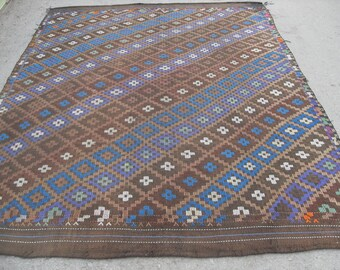 "Turkish Kilim rug, area rug, rug, vintage rug, bohemian rug, Turkish rug, rug, oerlon kilim, rug, SİZE = 76"" X 102"" ( 190 cm X 255 cm )"