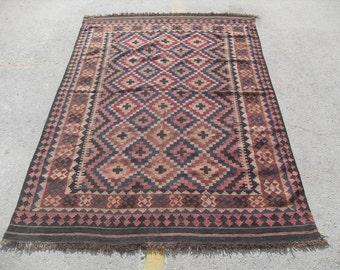 "Kilim rug, 96"" x 62"", kilim, Vintage Turkish kilim rug, area rug, kilim rug, organic wool kelim, vintage rug, bohemian rug, Boho, rugs,"