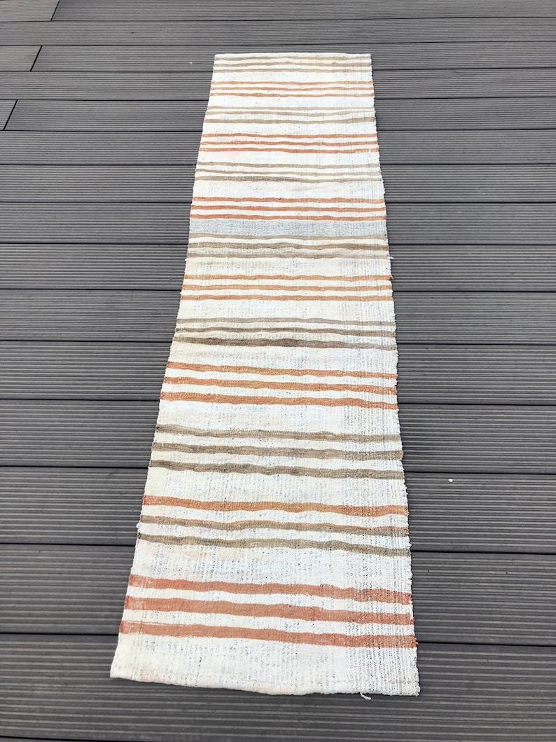 kilim Runner rug turkish rug 22x 81 decorative runner rug gray rug bohemian runner rug Vintage kilim rug entrance decorative corridor rug
