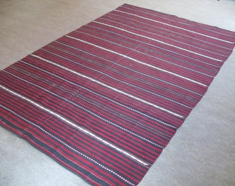 kilim free shipping VINTAGE TURKİSH  kilim Anatolian handwoven rug decorative kilim - SİZE : 67'' X 105'' (168 cm X 263 cm)
