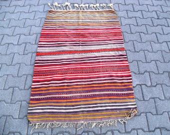 free shipping VINTAGE TURKİSH aydın kilim Anatolian handwoven kilim rug decorative kilim SİZE : 38'' X 58'' ( 95 cm X 145 cm)