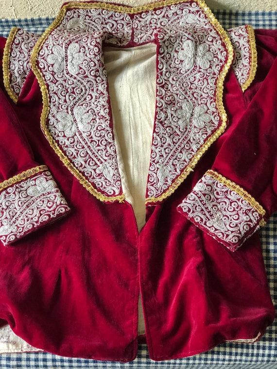 Ottoman red velvet jacket
