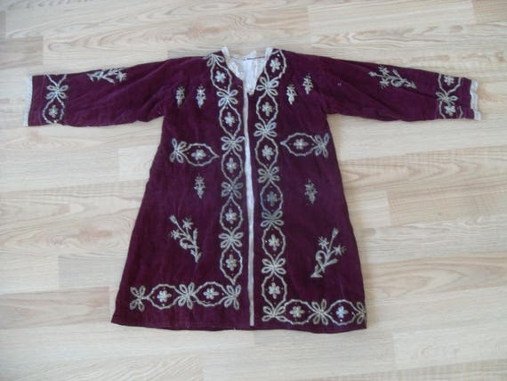 "OTTOMAN VELVET JACKET ,wedding jacket , 31"" x 20 ,"