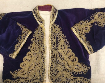 Ottoman velvet jacket , woman wear, ottoman , velvet , blue velvet