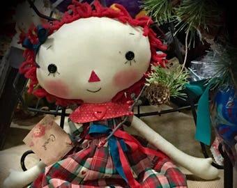 Miss Carol Christmas Raggedy Ann!