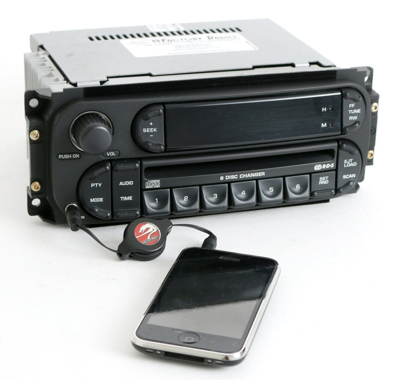 Dodge Chrysler Jeep 2002 to 2007 Radio Am Fm 6 Disc Cd Changer Upgraded  with Auxiliary Input - RBQ - Part Number P05091507AG