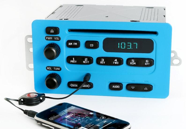 Chevy 00 To 05 Am Fm Cd W Aux Input Radio Electric Blue Etsyrhetsy: 2005 Impala Radio Aux Input At Gmaili.net