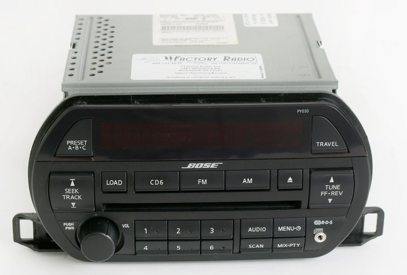 2002-2003 Nissan Altima Bose Radio AM FM 6 Disc CD with Auxiliary Input Upgrade Part Number 281858J200