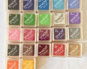 Versacraft mini ink pads, wood ink pad, rubber stamp pad, ink pad, stamp pad, mini ink pad, versacraft ink pad, inkpad, ink, white ink