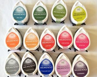 Mini encreurs Dew Drop Memento, encre pour papier couché, encre séchage rapide, multicolore, encre verte, encreur rose, encreur bleu