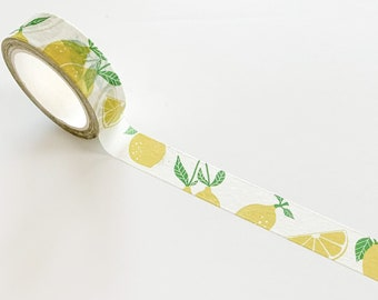 Lemon washi tape, masking tape