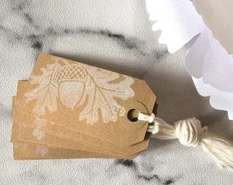 10 Christmas Gift Tags 'Joyeux Noël' (Set of 10) - Christmas wrapping, christmas gift, gift wrap, brown kraft tags, christmas gift wrap
