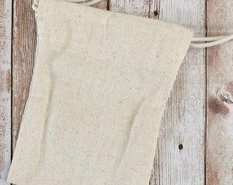 """Pochon en coton épais, 9x11,5cm, 4""""x5"""", pochon avec liens, Parfait pour tamponner, Emballage personnalisé"""