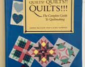 Quilts! Quilts!! Quilts!! The Complete Guide to Quiltmaking by Diana McClun and Laura Nownes, How to Quilt Book, Quiltsy Destash Party