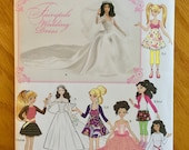Simplicity Doll Clothes Sewing Pattern 1955, Fairytale Wedding Dress Doll Pattern for Small, Medium and Large Doll, Quiltsy Destash Party