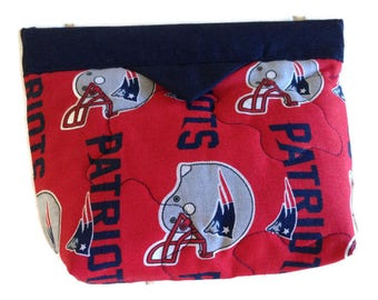 New England Patriots Accessory Cosmetic Bag, Patriots Small Purse, Patriots Cosmetic Bag, Patriots Make Up Bag, Quiltsy Handmade