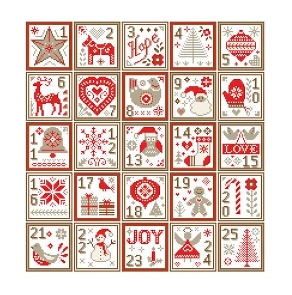 Nordic Christmas sampler cross stitch Modern Christmas Cross Stitch Pattern Christmas  Ornaments cross stitch scandinavian theme - Nordic Christmas Sampler Cross Stitch Modern Christmas Cross Etsy